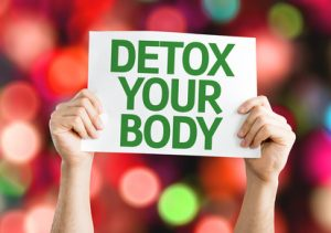 Detox Your Body card with colorful background