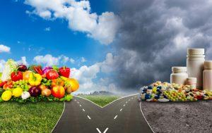 Healthy food or medical pills