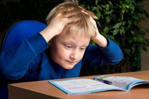 הפרעות קשב וריכוז - ילד מנסה ללמוד